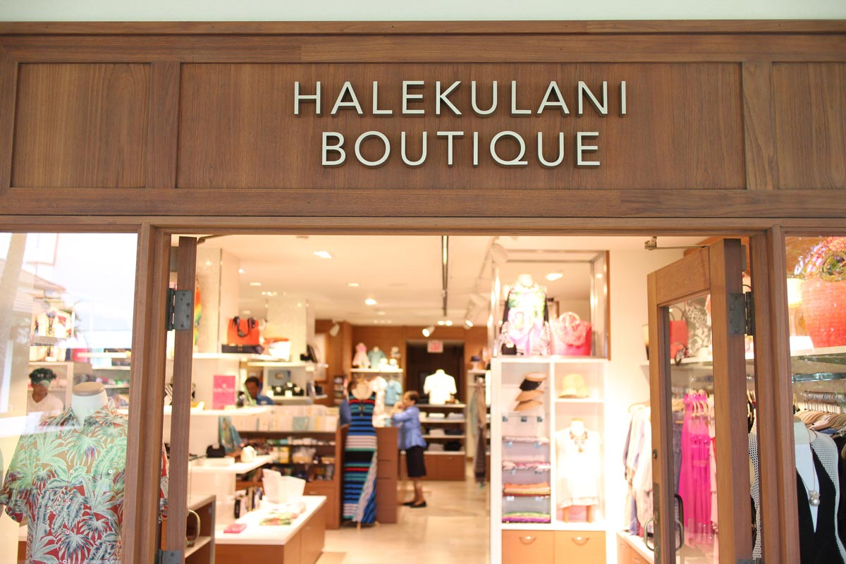 Appearance of Halekulani boutique