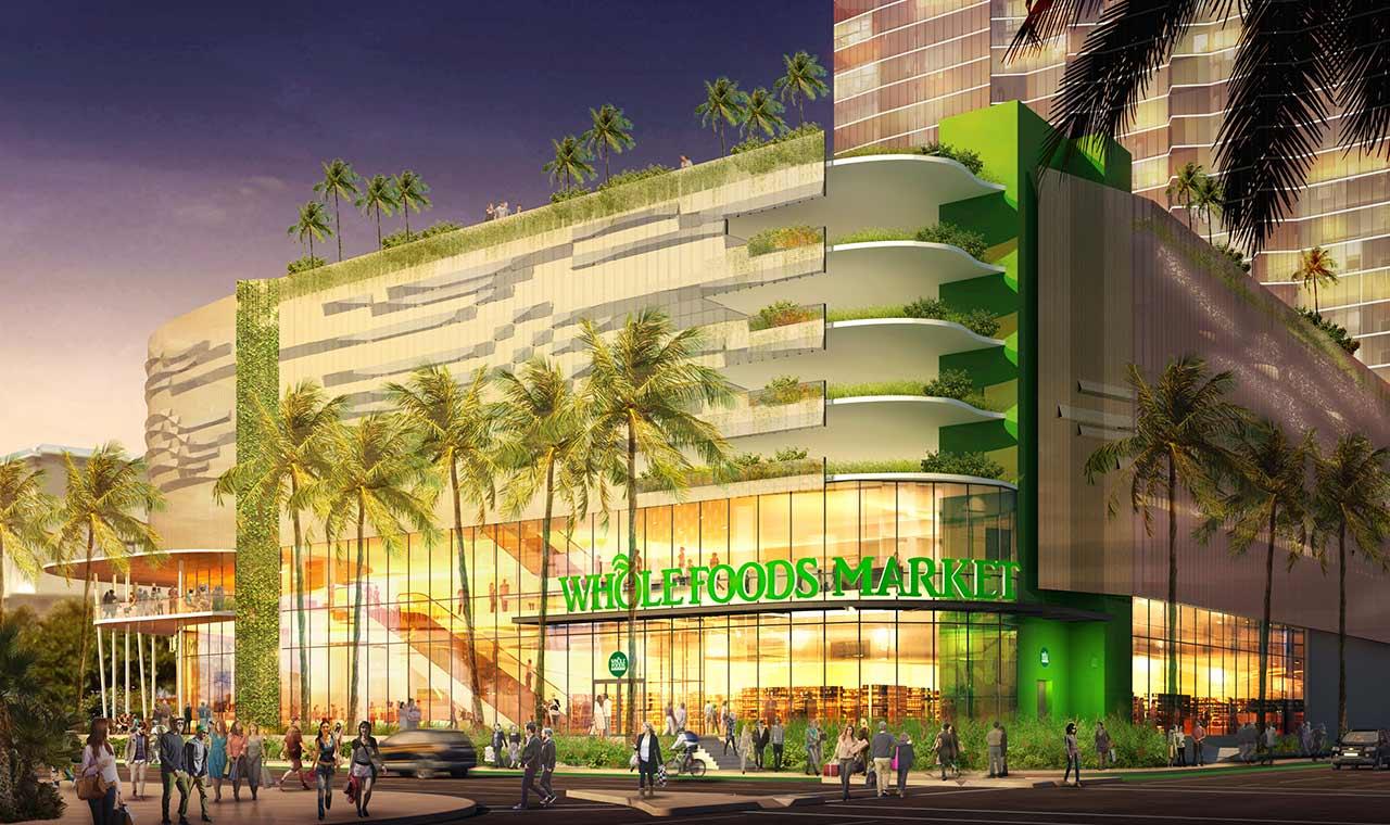 ホールフーズマーケットがワード地区に新店舗、ハワイ最大規模の旗艦店にのアイキャッチ画像