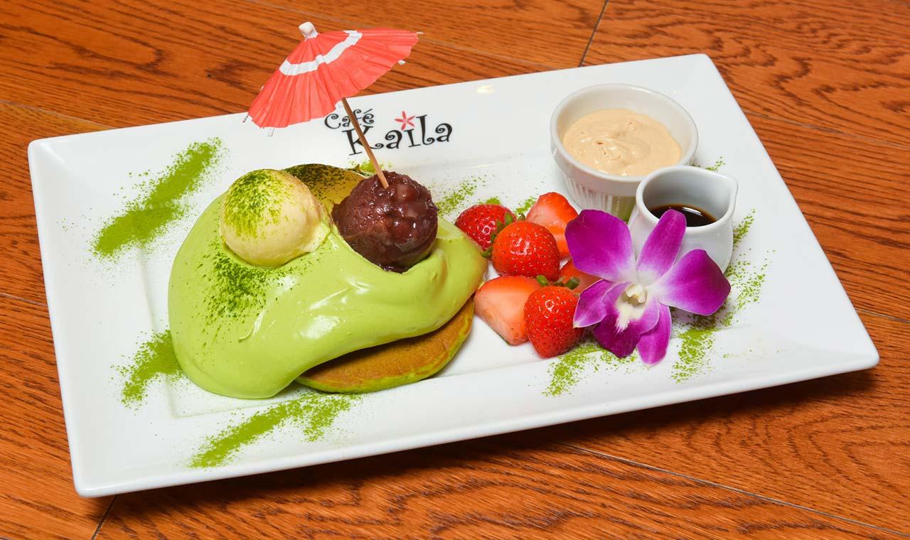 カフェカイラ、京抹茶パンケーキを特別価格500円で限定販売のアイキャッチ画像