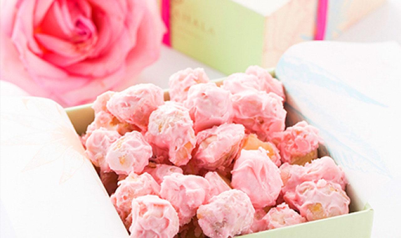 カハラホテル、ピンク色のマカダミアナッツチョコを10月限定発売のアイキャッチ画像